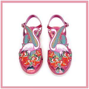 Miss L Fire Flamingo A-Go-Go Sandals